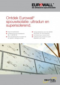 Eurowall spouwisolatie